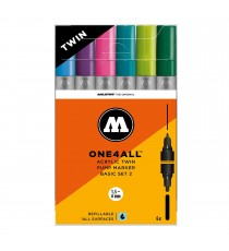 Set 6 Marqueurs Acrylic Marker One4All Twin 02